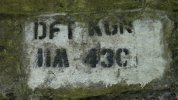 109. Bridge abutment mark at Titley Junction.JPG