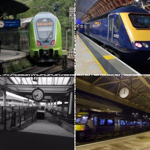 Photo of the Month - April 2020 - Trains and Station clocks