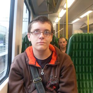 Me on a 350 somewhere near Watford Junction