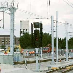 Building work on what was to become the throat for St Pancras West, where MML would move into two years later.  (Aug 2004)