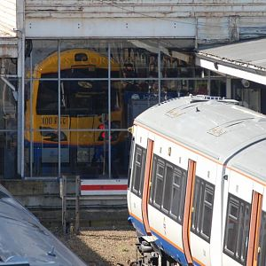 London Overground 378008 and it's reflection!, Richmond