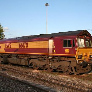66 170 - stabled next to station