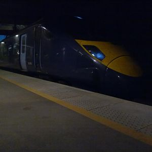 Night time Class 395 at Stratford Int