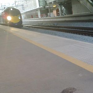 Class 395 arriving at Stratford Int