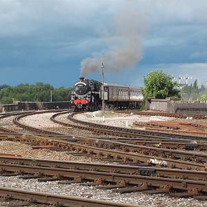 76079 in shrewsbury on its way to Machynlleth for the Cambrian rail tours over the summer