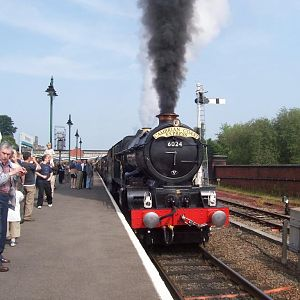 6024 king edward in shrewsbury station