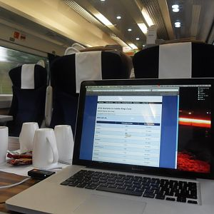 Onbaord a HST in 1st class from inverness to KGX :)
