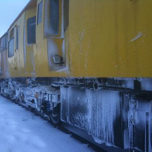 Even though the snow choked most of the north in late November, the recording programme must at least try to continue. 999508 Track Inspection Coach s