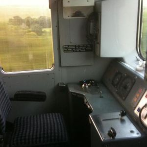 The driving cab of 950001, vehicle 999600.