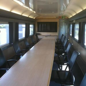 The conference coach on the NMT. Usually used for visitor presentations, and the  (very) occasional board trip.