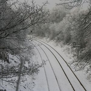 From the top of gresley tunnel in the direction of burton, no fancy tricks just bloody freezing