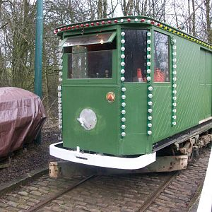 Heaton Park Tramway 752 on the Depot Slope