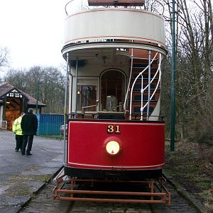 Heaton Park Tramway, 31 looks good in its 4 month old paint.