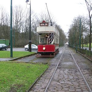 Heaton Park Tramway 31 in the siding