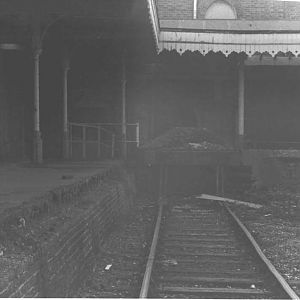Staines West Station after Closure (2) 1981