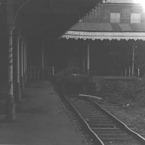 Staines West Station after Closure 1981