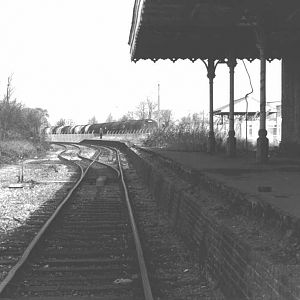 Staines West Station after Closure towards Colnbrook 1981