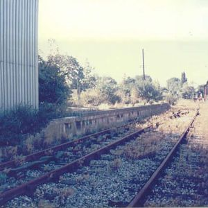 Colnbrook Station Platform and Level Crossing 1986