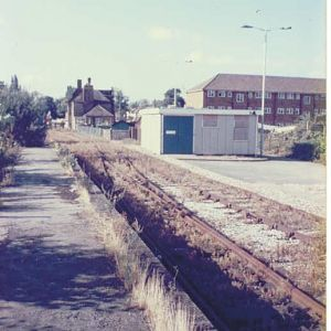 Towards Colnbrook Level Crossing 1986