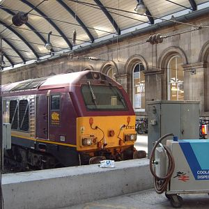'Thunderbird' rescue locomotive 67002 at Newcastle.