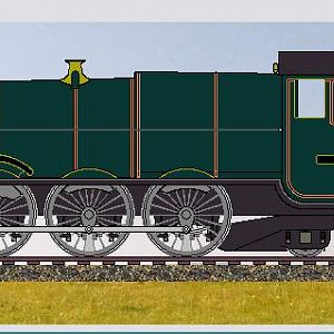 "Imaginary broad gauge ""King"", created with GWR Loco Sketchpad"