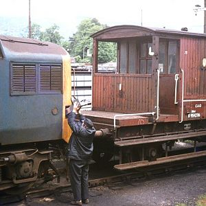 Aberdare 1982 sanding a 37 ready for a tough wet trip up to Tower Colliery