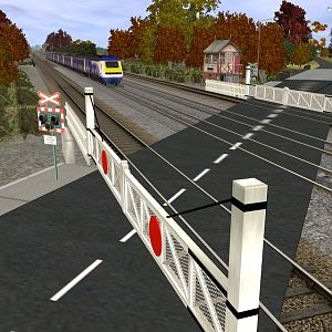 FGW HST passing through a level crossing