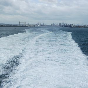 #16: A view of the City of Belfast from the Stena Voyager, en route to Stranraer.