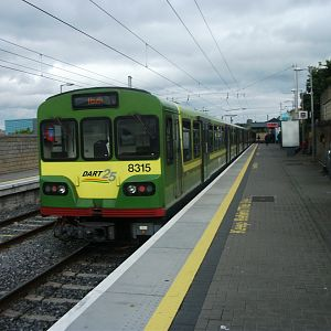 #11: Dublin Area Rapid Transit (DART) unit 8315 stands at Howth after its cross-city journey from Greystones.