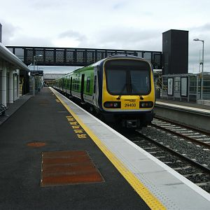 #9: IE unit 29403 at M3 Parkway, just outside Dublin, awaiting its return trip to the capital. M3 Parkway is one of IE's plethora of new stations in t
