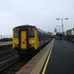 "#5: NIR ""Thumper"" unit 8784 at Portrush, having made the short journey from Coleraine."