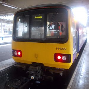 144022 at Sheffield, us having alighted there from the service from Leeds via Castleford.