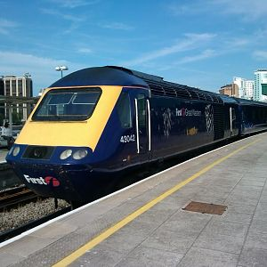 First Great Western Class 43 as HST at Cardiff Central, 06.05.2013