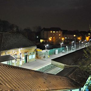 The only long exposure I could attempt to take. Crystal Palace Station.