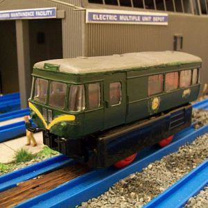 Dapol railbus kit - adapted to run on Plarail.