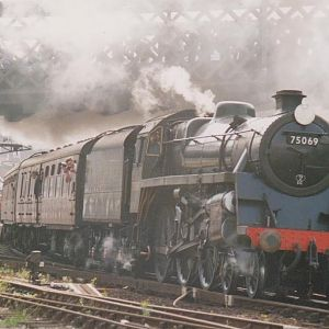 A memorable day back in June 92 when a steam service ran all day between Hastings and Ashford. This is a lively departure from Hastings.