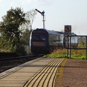 170270 departs Reedham (Norfolk)