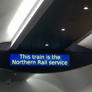 Northern Rail 144012 (Evolution Pacer) Information Display