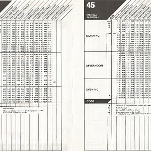 Grimsby Timetable 45 I0002
