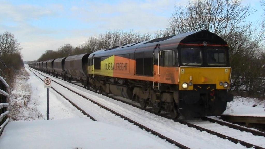 66848 @ newton aycliffe on the weardale coal 15/01/13