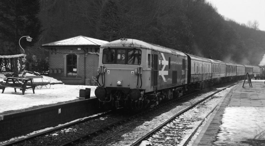 class 73 entering shackerstone station