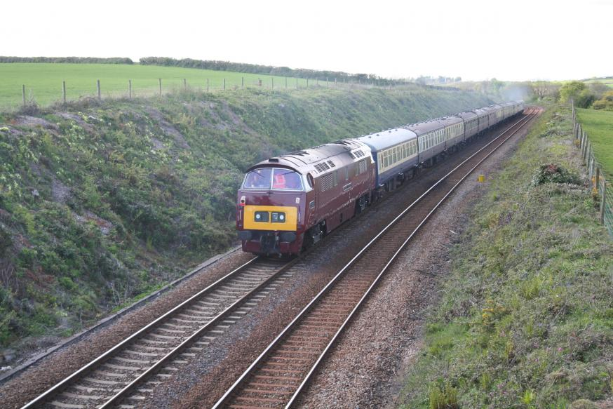 D1015 bringing up the rear of the special train