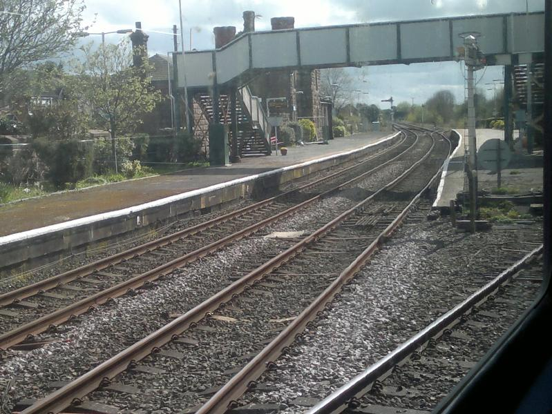 Helsby Station, travelling on train from Ellesmere Port to Warrington BQ