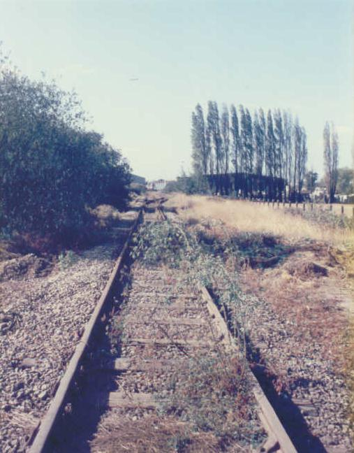 Looking towards Colnbrook Station 1986